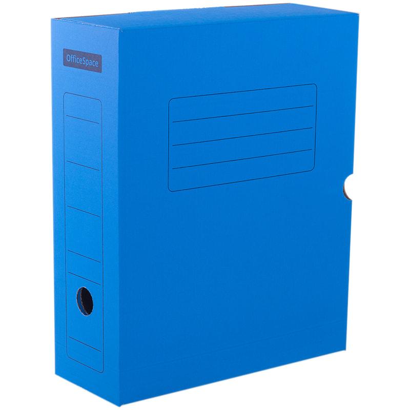 Короб архивный 100мм синий с клапаном