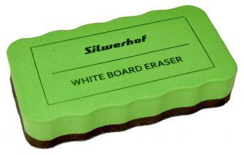 Губка для доски Silwerhof на магните зеленая