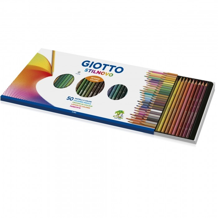 Карандаши цветные 50 цв Giotto Stilnovo + точилка