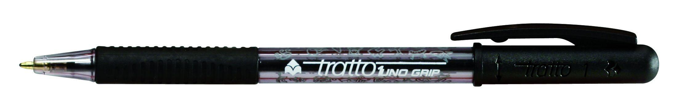 Ручка шариковая Tratto 1 черная поворот 1мм