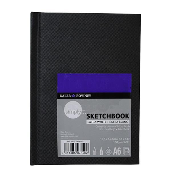 SketchBook А6 110л нелин Simply скетчбук экстра белые листы 100г/м2