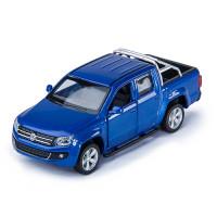 Машина Volkswagen Amarok дв.откр., цв.син., инерц., металл 1/46