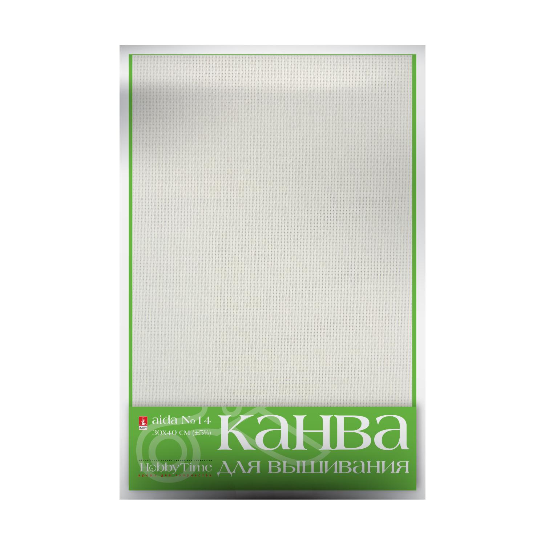 Творч Канва для вышивания белая 30х40см №14