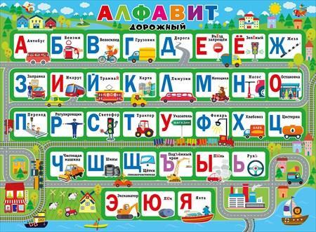 Плакат Алфавит дорожный А2 горизонт город