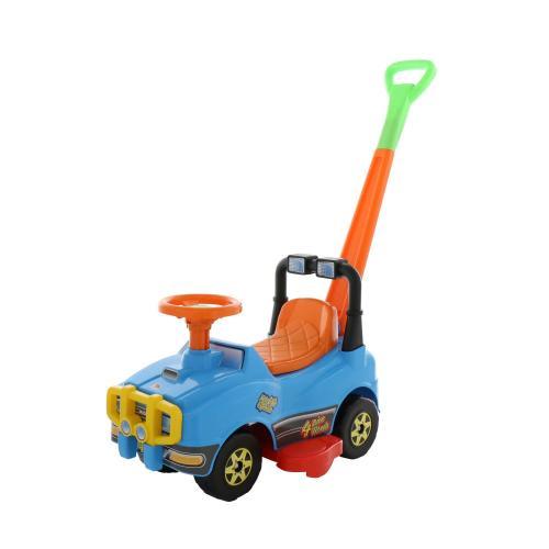 Автомобиль Джип-каталка с ручкой - №4 (голубой)