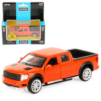 Машина Ford F-150 SVT Raptor дв.откр., цв.оранж., инерц., метал 1/52