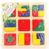деревянная Вкладыши Цветные геометрические фигуры
