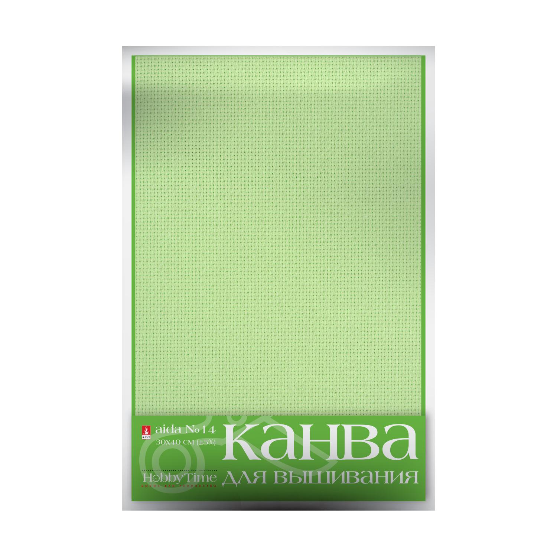 Творч Канва для вышивания салатовая 30х40 см. №14