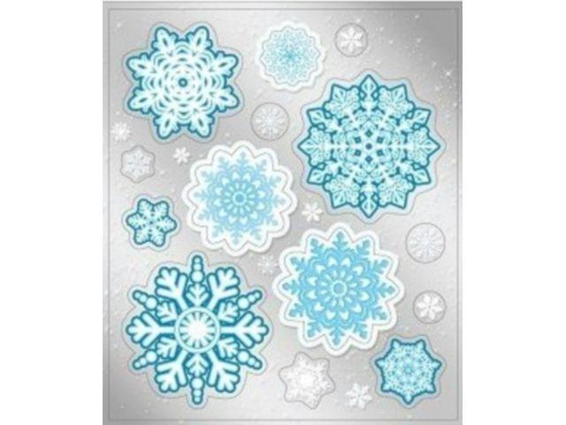 Наклейка 080.494 Снежинка двусторон глит
