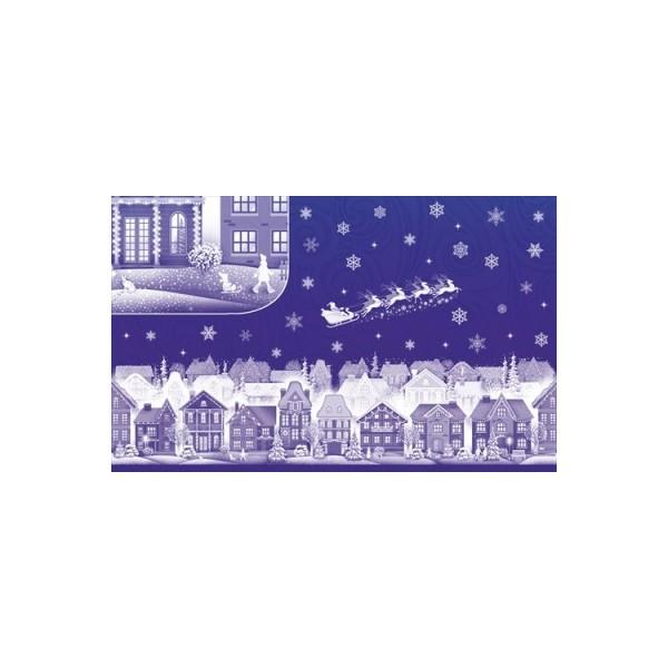 Наклейка 080.498 Снежинка двусторон глит