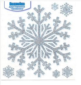 Наклейка 080.497 Снежинка двусторон глит